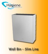 Slimline Wall Mounted Bin - Stainless Steel